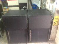 2 cerwin vega bass bins.