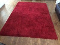 Red Marl shaggy pile Rug
