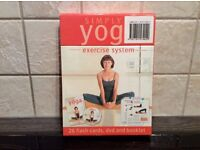 Simply yoga DVD with 26 flash cards