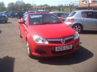 VAUXHALL TIGRA 1.4 58 plate only 58000 miles FSH MOT ONE YEAR bright red free 30 day warranty