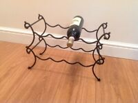Wrought Iron Two Teir Wine Rack