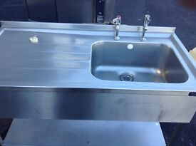 Stainless steal sink. Excellent condition
