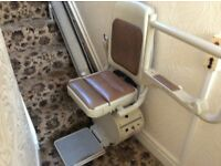 Stairlift covering thirteen steps