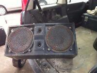 """speaker cab, spares or repair 2 x 12"""" needs tidying up and repair"""