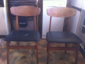 Upcycling project - 2 * 1960's chairs