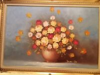 Oil painting picture framed