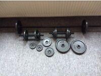 Cast iron weight set
