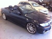 \\ JUST ARRIVED // 54 BMW 325 M SPORT CONVERTIBLE AUTOMATIC, LEATHER, MOT JULY 2017, CAT D.