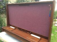 DUEL Purpose NOTICEBOARD with lockable Info Boxes - Made from Afrormosia hard wood