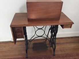 Treddle sewing machine/ hall table - garden table base