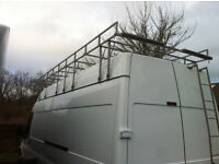 Ford Transit Jumbo Roof Rack and Rear Ladder by Wilco