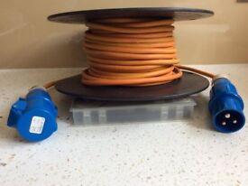 25 metre Hook Up Extension Cable 240V 3pin Mains Electric Lead
