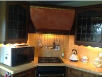 Brass and Copper cooker hood, with Neff extractor fan fitted.