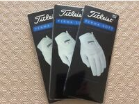 Titliest perma soft golf gloves all sizes med,ml,large 3pk deal!!