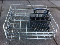 Dishwasher lower rack and cutlery basket