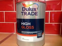 5 litres Dulux trade high gloss white paint