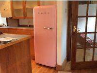 Pink Smeg Fridge Freezer