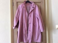 Per Una ladies coat. Lovely pink colour, great striped lining.