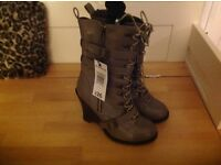 Ladies high wedge boot 5 BNWT