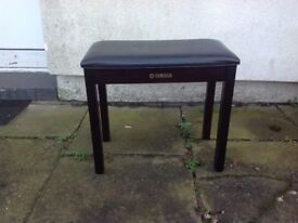 Black piano stool but would serve as any stool, very good condition