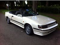 TOYOTA CELICA 2.0 GT TWIN CAM, CONVERTIBLE TARGA, MANUAL, ONE OWNER, LOW MILEAGE ,V RARE, LOVELY CAR