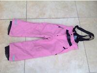 Girls ski trousers age 4-5. £10