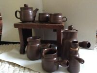 Denby tea and coffee set circa 1970 as excellent condition