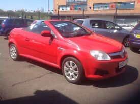 Vauxhall Tigra 1.4 58 plate only 58000 miles PSH (4 stamps) MOT ONE YEAR RED convertible