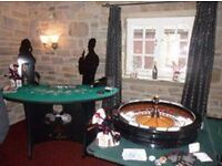 A FUN CASINO PARTY NIGHT THEMED HIRE BLACKJACK ROULETTE POKER DICE/CRAPS
