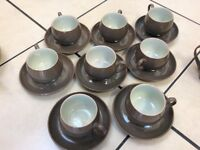 Denby Greystone cups and saucers