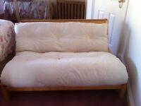 Genuine Futon Sofa Bed, 4' Double