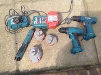Job lot of Makita Cordless drills,batteries and chargers