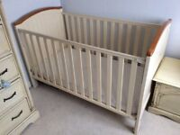 Henley baby cot with mattress