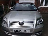 2004 TOYOTA AVENSIS 2.0 DIESEL, MANUAL ... GREAT, RELIABLE VEHICLE, VERY ECONOMICAL TO RUN