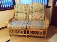 Cane two seater sofa X 2. Excellent condition