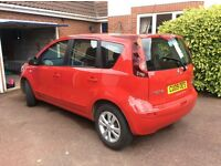 PRICED TO SELL Nissan Note - smart high spec compact MPV