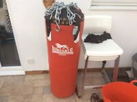 Lonsdale L-core Punch Bag and Gloves as new
