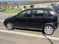 corsa sxi 2003 black 4 doors power steering