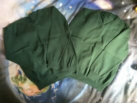 School jumpers green - good condition