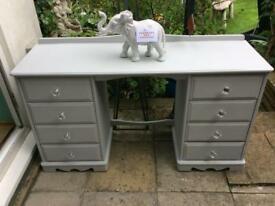Ronseal grey chalk paint dressing table