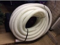 HALF PRICE: VENTILATION DUCTING Semi-Rigid 75mm Dia x 39m Lg : HVAC / Heat recovery