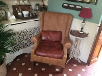 Large whicker arm chair