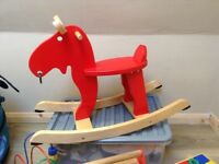 Bouncing wooden horse