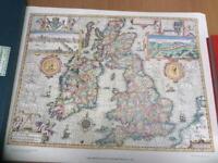 Vintage Britain &Ireland map with original box