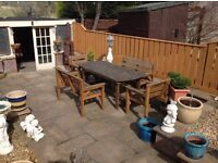 GARDEN TABLE / BENCHES /CHAIRS