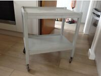 Painted solid wood trolley