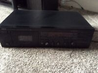 Yamaha tape deck for anyone over 35 who knows what a cassette tape is.