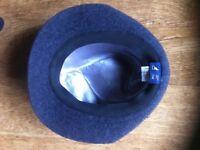 Kangol Gaffer Blue Woolen Trilby Hat - Size Large