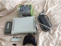 Xbox 360 bundle, 9 games, wireless controller, 20GB hard drive, 16GB memory stick