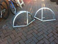 Galvanised wheel arch mudguards
